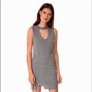 Pam & Gela Choker Neck Shift Sweatshirt Dress